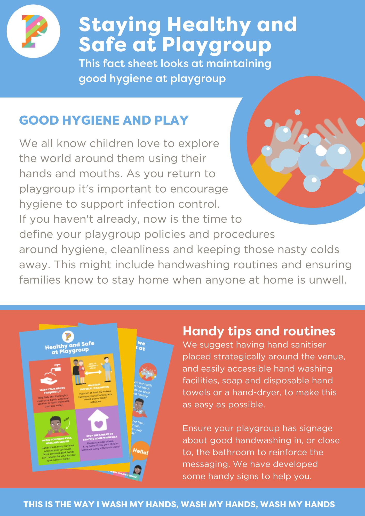 Good hygiene poster